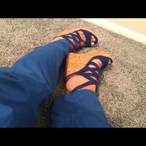 Adorable Blue Wedge Heels